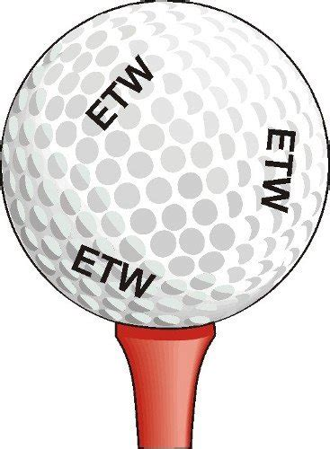 Personalized Golf Ball Stamp