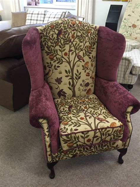 Details about Chesterfield Wing Back Arm Chair Morris + Co