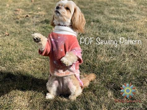 Small Dog FLEECE SWEATER PATTERN Dog Clothes Pdf Sewing   Etsy
