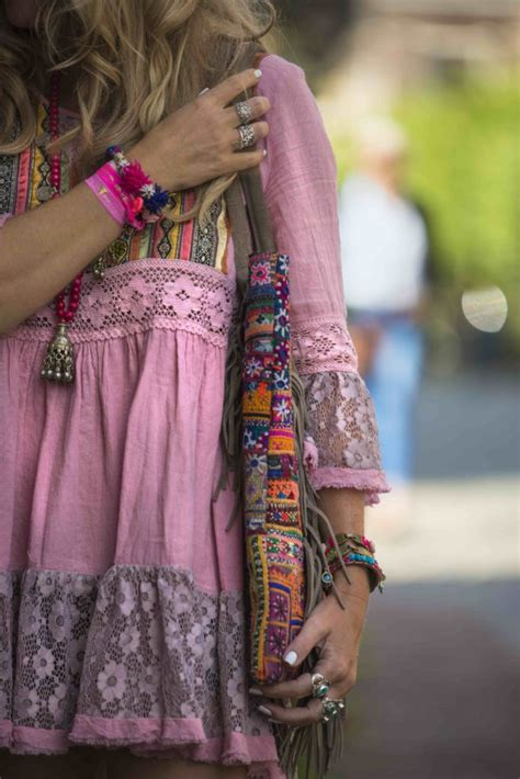The perfect hippie chic style for a hot summer day in the