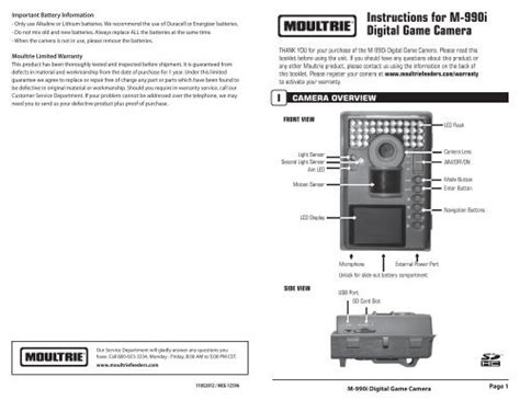 Moultrie Game Cameras Manual - Collections Photos Camera