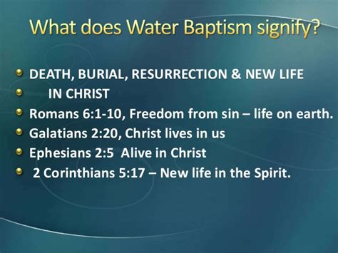 Adult immersion baptism - meaning and significance