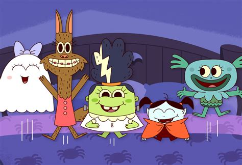 Five Little Monsters Jumping On The Bed - Super Simple Songs