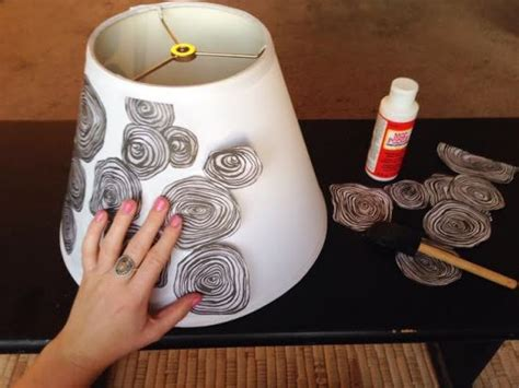 Upcycled Decoupage Lamp Shade - DIY - MOTHER EARTH NEWS