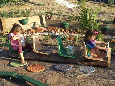 DIY Natural Playspaces - Chairs, Buses and Climbing Frames