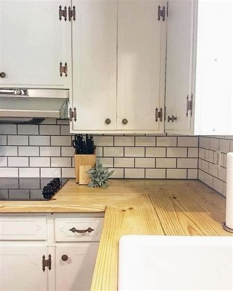 butcher block look a like countertops for under 100 | Diy