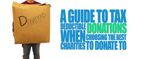 A Guide To Tax Deductible donations & best charities to