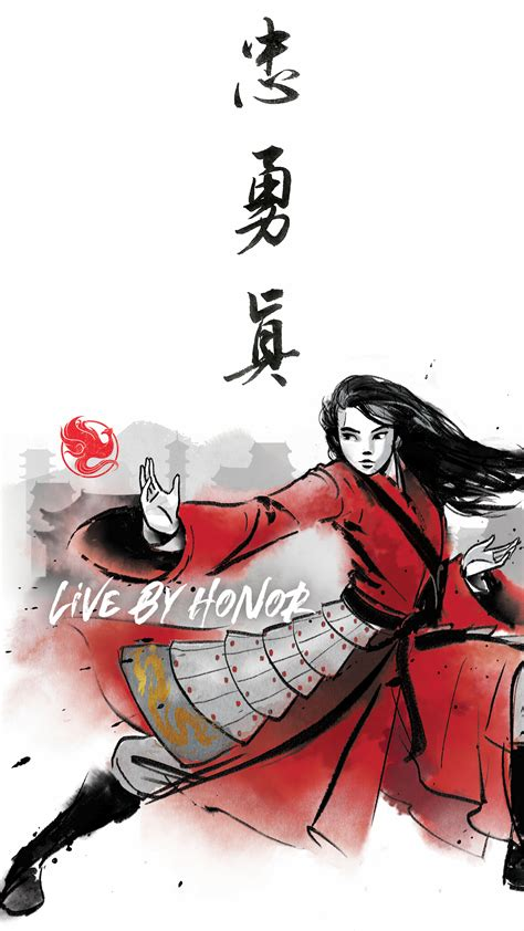 Mulan Movie live action 2020 new wallpapers in watercolor