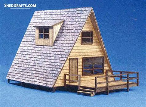24×24 A Frame Shed Plans Blueprints For Strong Timber Shed