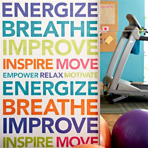 Lowe's stencils for exercise room | Get moving