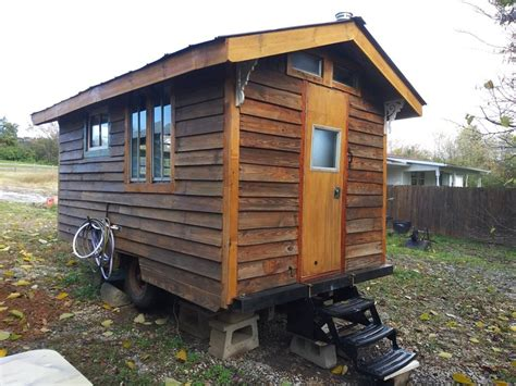 13ft Rustic Tiny Cabin on Wheels