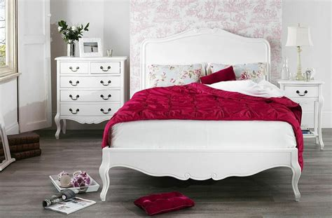 JULIETTE Shabby Chic White Double Bed, Stunning Wooden