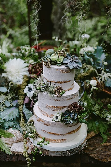11 of the Best Naked Wedding Cakes  CHWV