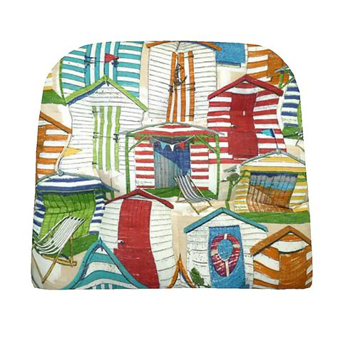 Beach Huts Multi Indoor/ Outdoor Chair Pads & Patio
